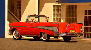 1957 Chevrolet Bel Air Convertible Rear Left