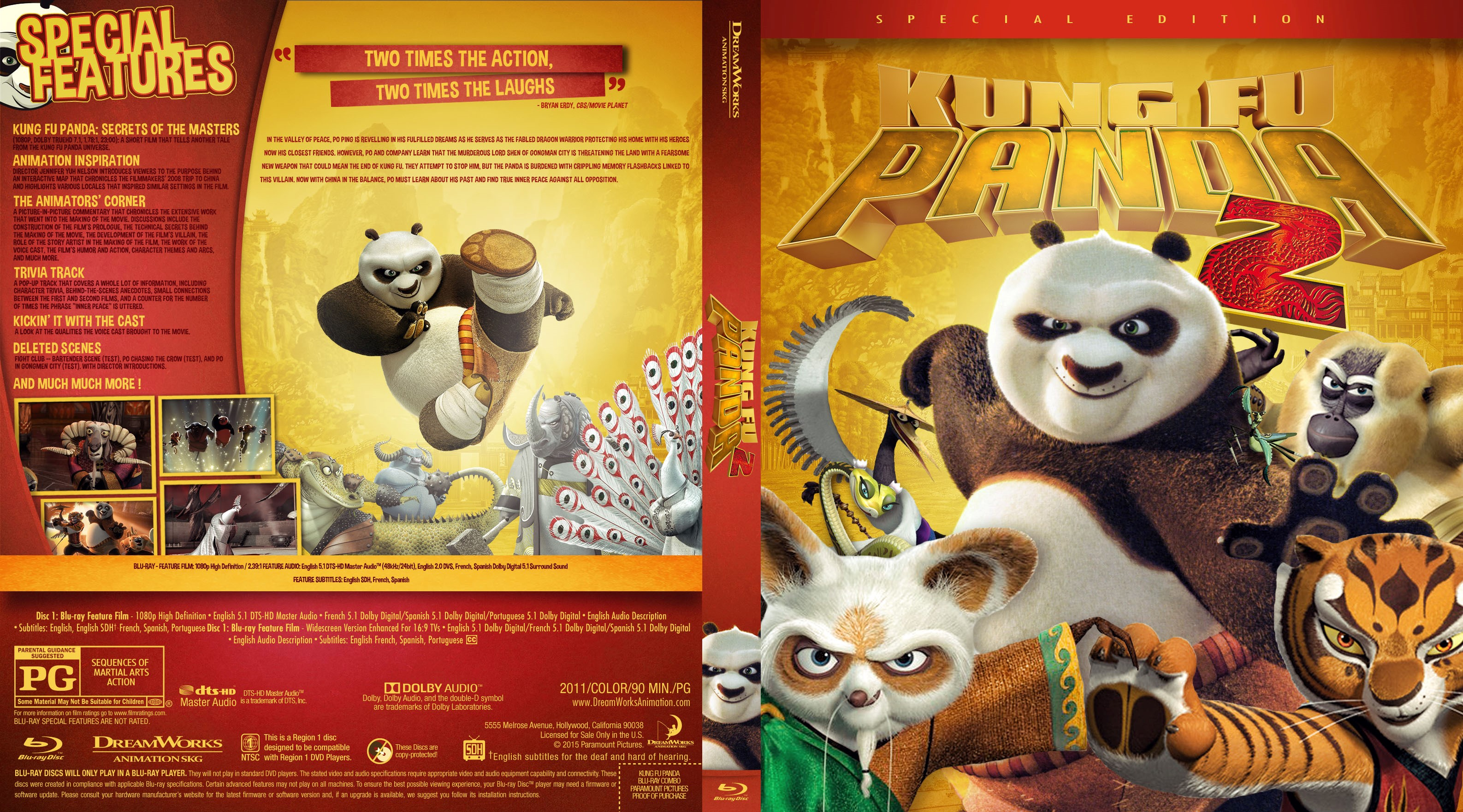kung fu panda 2 bluray cover - cover addict - freecovers