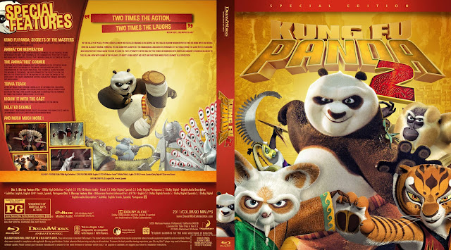 Kung Fu Panda 2 Bluray Cover