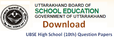 UBSE High School (10th) Model Question Papers 2017 Blueprint