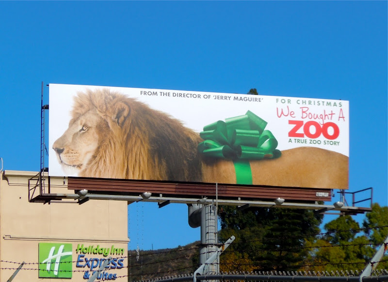 Lion We Bought a Zoo movie billboard