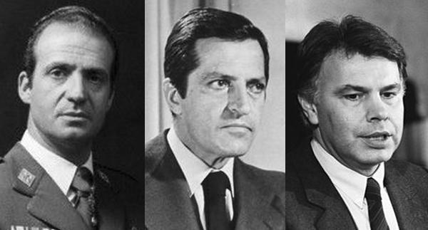 Juan Carlos, Suárez y Felipe