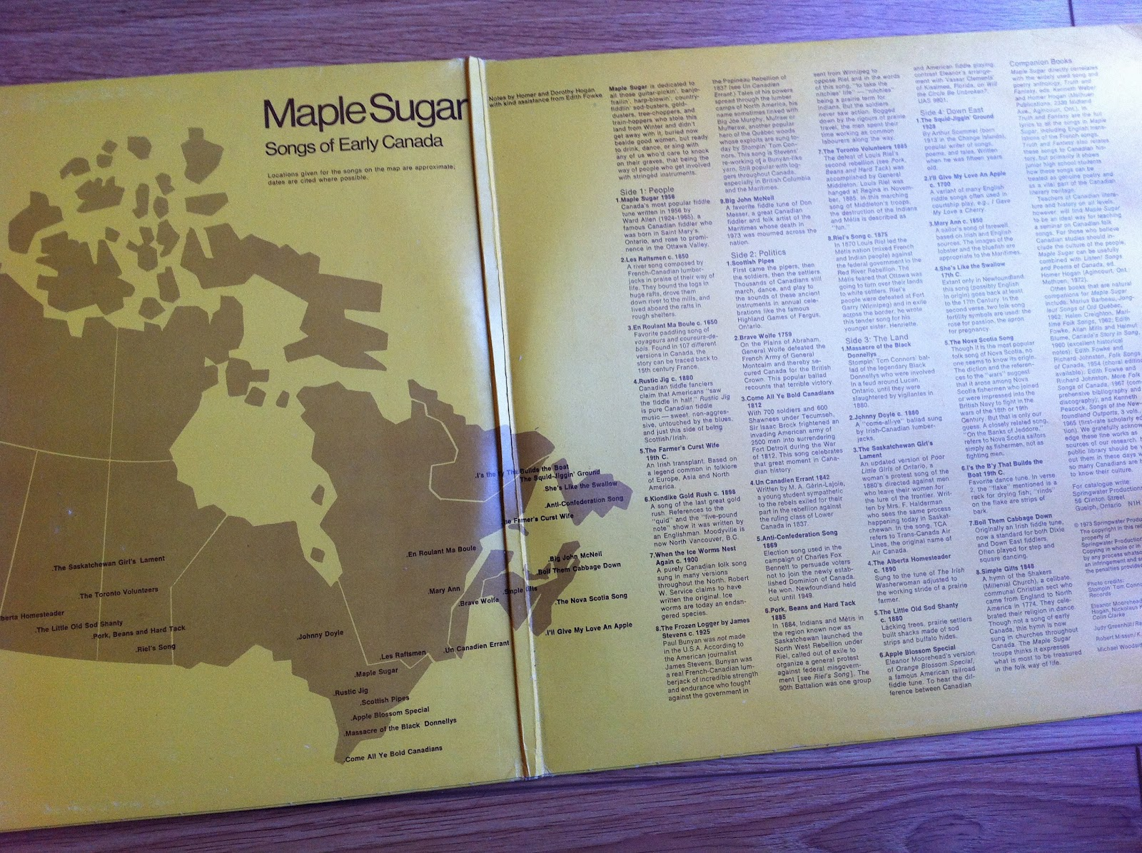 Map Of Canada Song.Damn Yak Dry Goods Co Maple Sugar Songs Of Early Canada