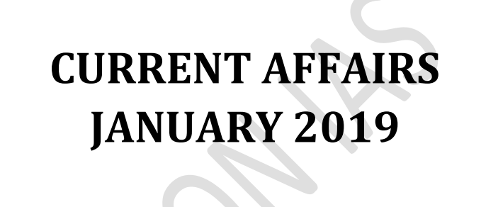 Vision IAS Monthly Current Affairs January 2019 (English) Pdf