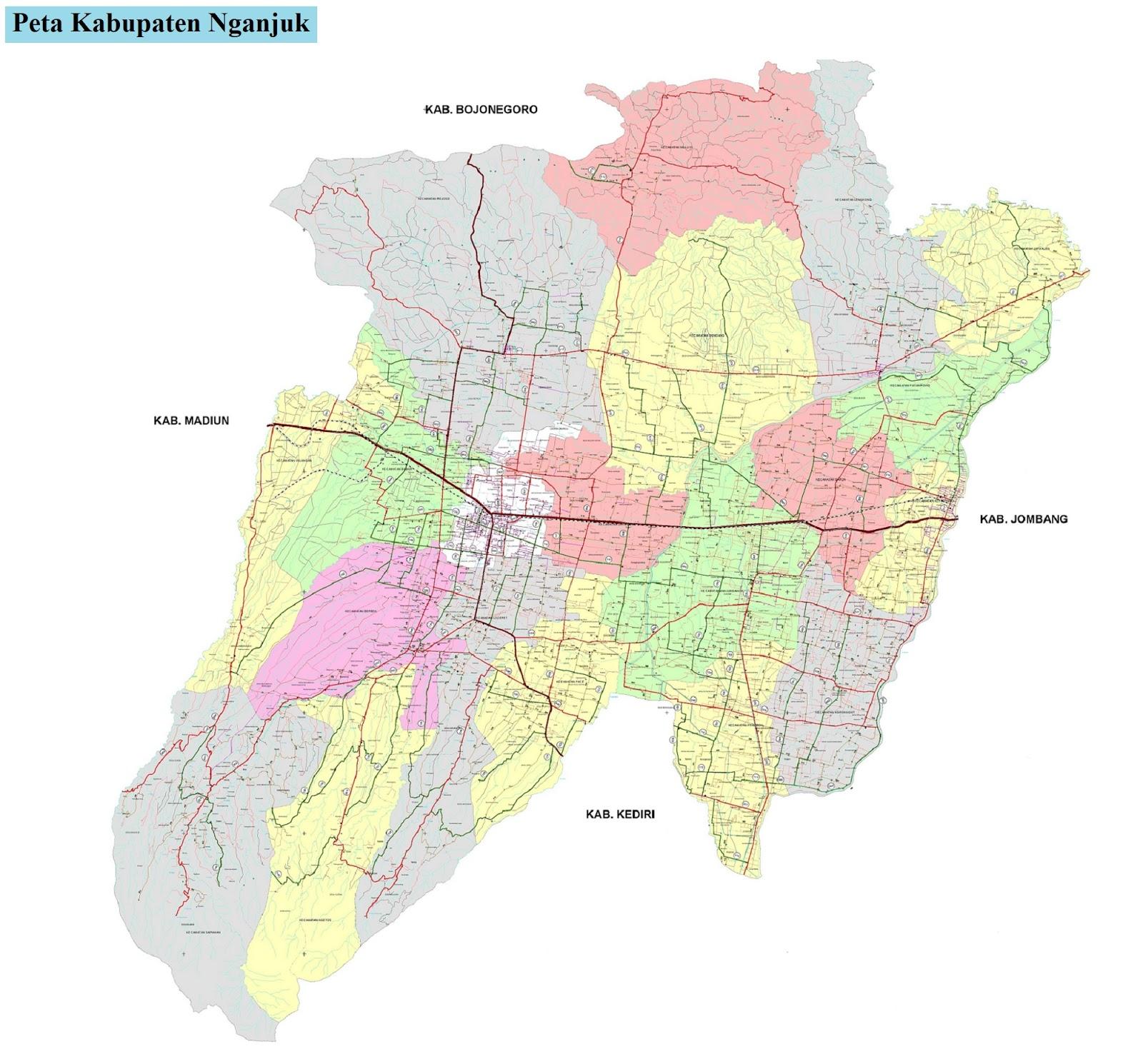 Peta Kabupaten Nganjuk