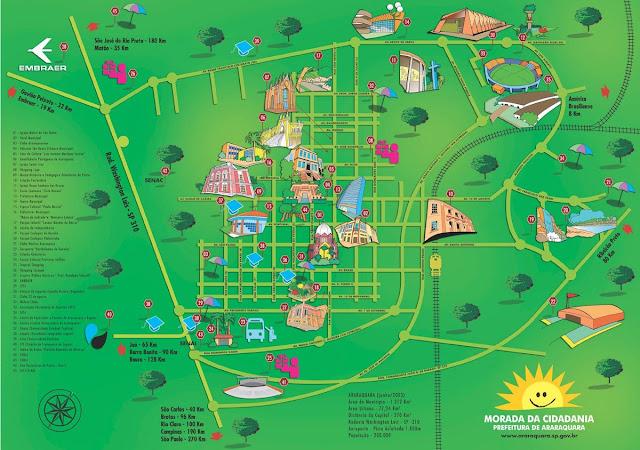 Mapa de Araraquara - SP