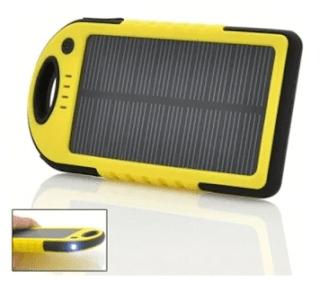 รีวิวขาย แบตสำรอง Power Bank Solar Cell yellow 1