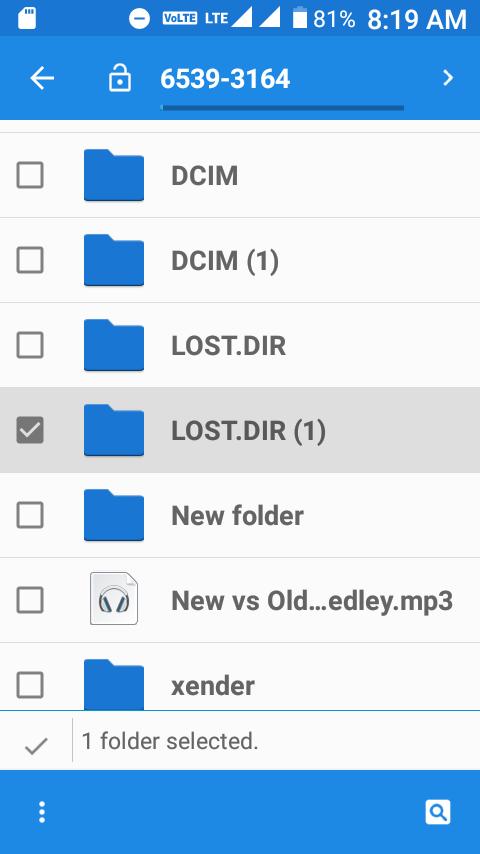 LOST.DIR Folder