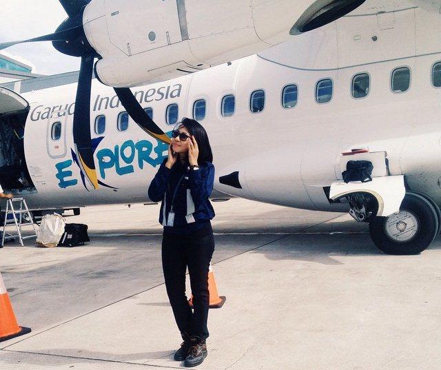 Foto Citra Chasanah Teknisi Cantik Pesawat Garuda