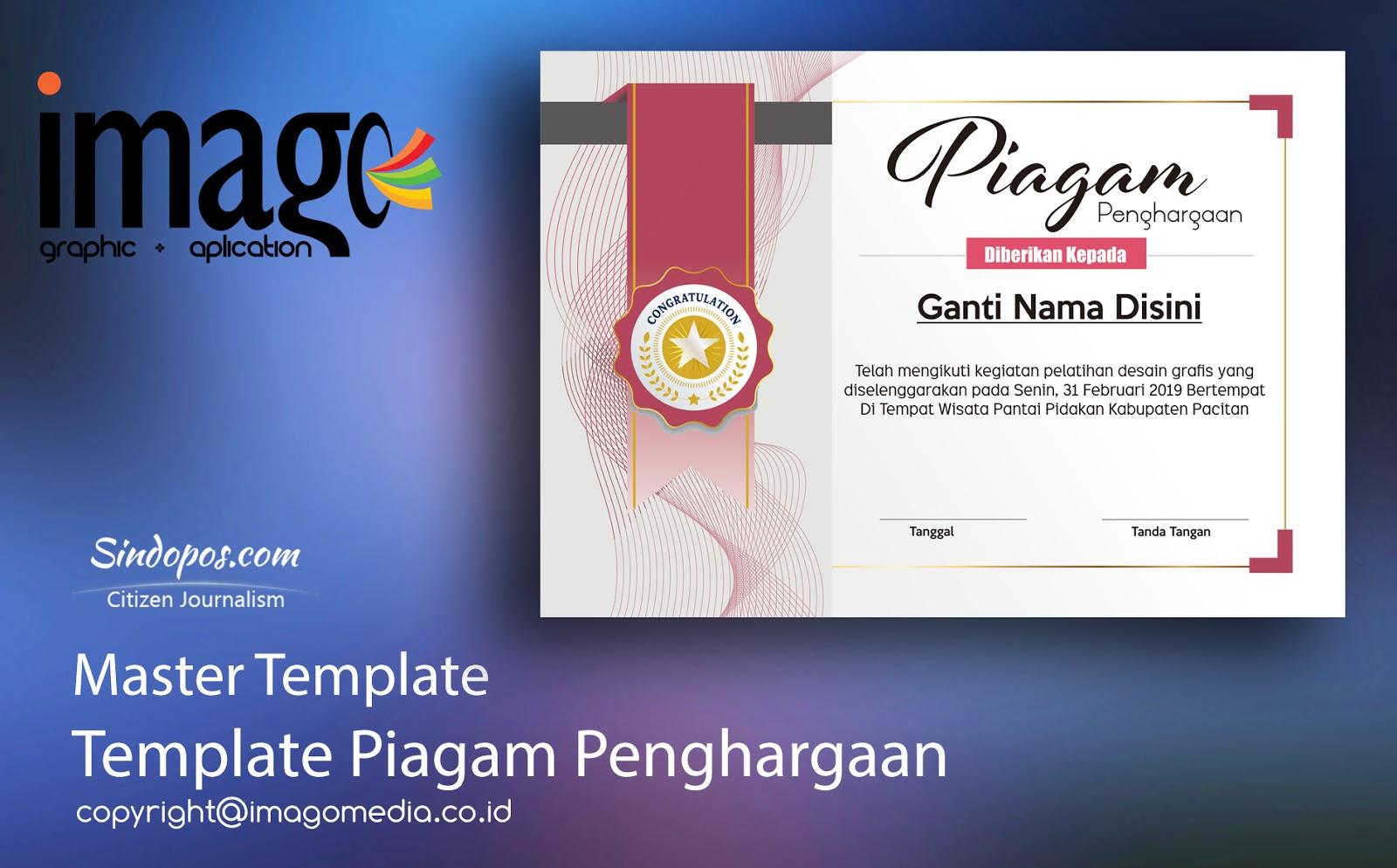 Download Template Piagam Penghargaan Imago Media