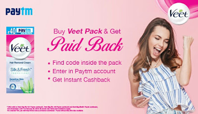 PayTm Veet Coupon Code Offer