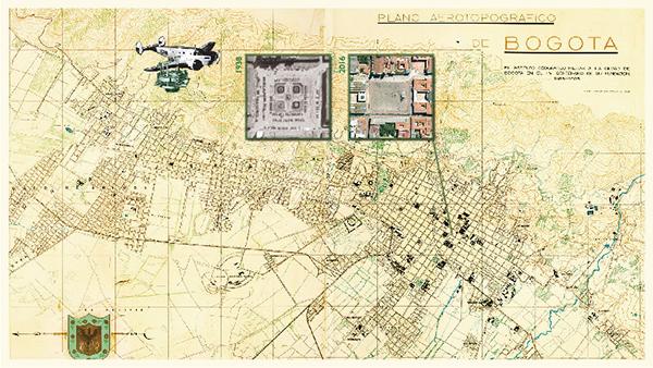ofrenda-Bogotá-480-años-Plano-Aerotopográfico