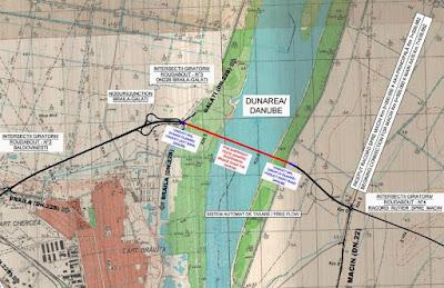 Duna-híd, Románia, közlekedési infrastruktúra, Brăila, CNAIR