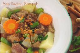 Resep sayur Sop Daging Rempah enak banget dan segar