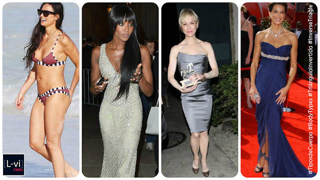 Celebridades con cuerpo de Triángulo Invertido / Celebrities with Inverted Triangle  body shape  L-vi.com