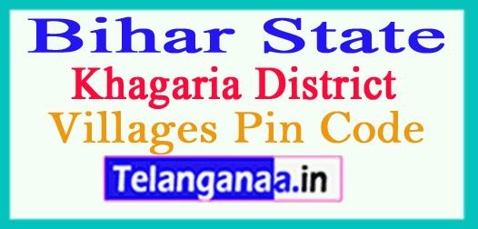 Khagaria District Pin Codes in Bihar State