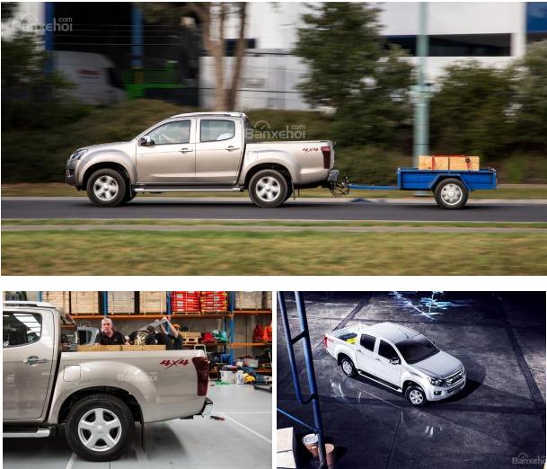 xe Isuzu D-MAX 3.0 có thùng xe rộng rãi chở nhiều vật dụng đa năng