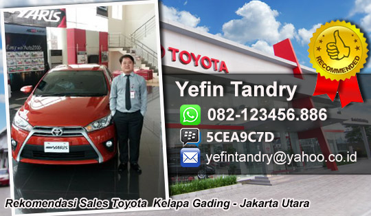 Rekomendasi Sales Toyota Kelapa Gading, Jakarta Utara