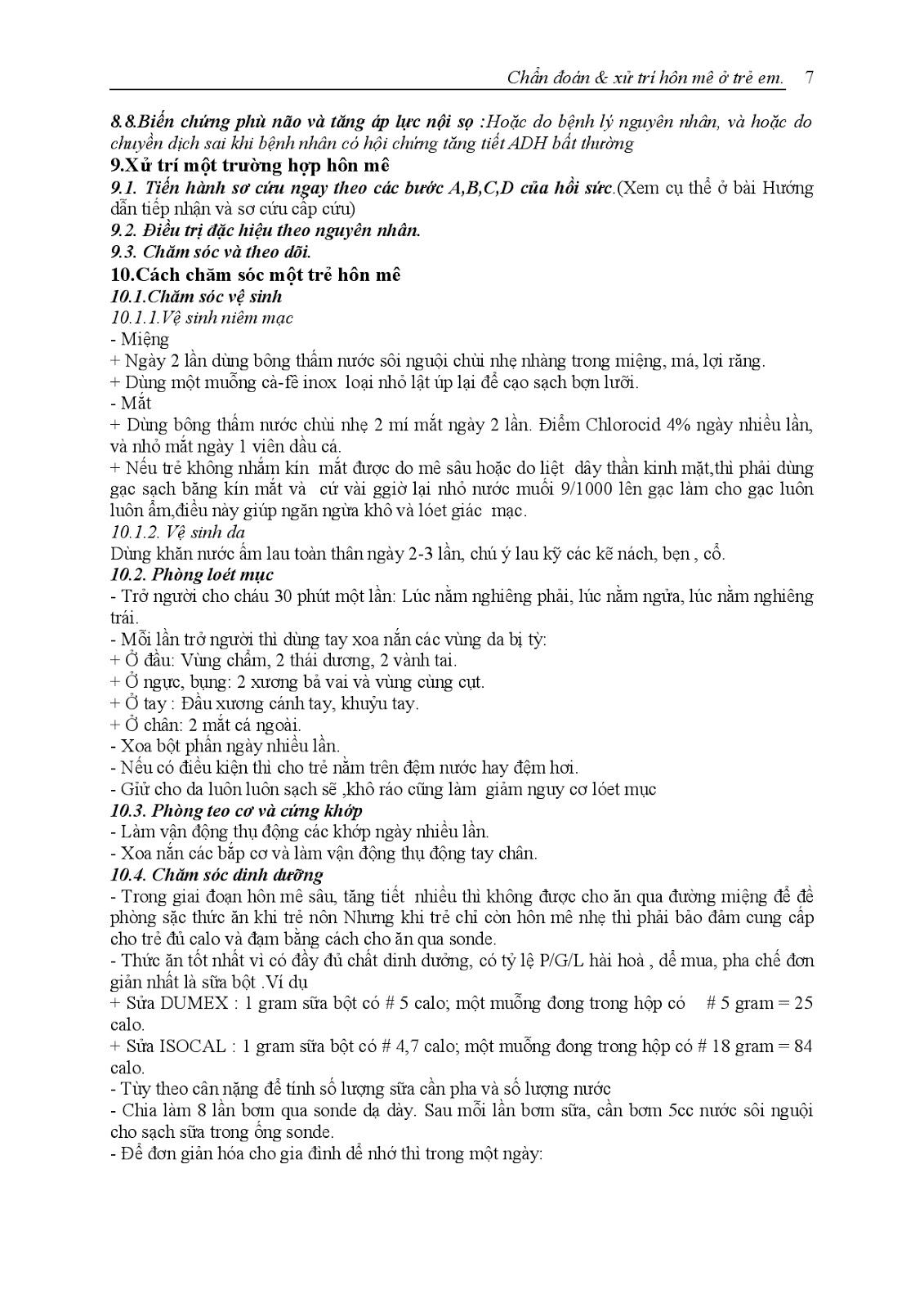 Trang 8 sach Bài giảng Nhi khoa III (Sơ sinh - Cấp cứu - Thần kinh - Chăm sóc sức khỏe ban đầu) - ĐH Y Huế