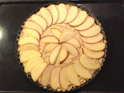Gluten free, lactose free Apple Tart raw