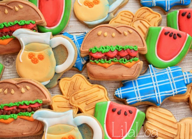 Decorate Barbecue Cookies with Chips Tutorial