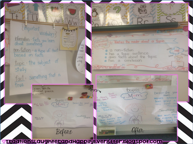 writing anchor charts first grade