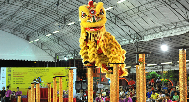 lion dance competition - Chinese New Year Dragon Dance