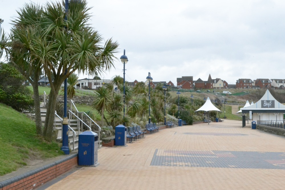barry island seaside seafront promenade palm trees wales