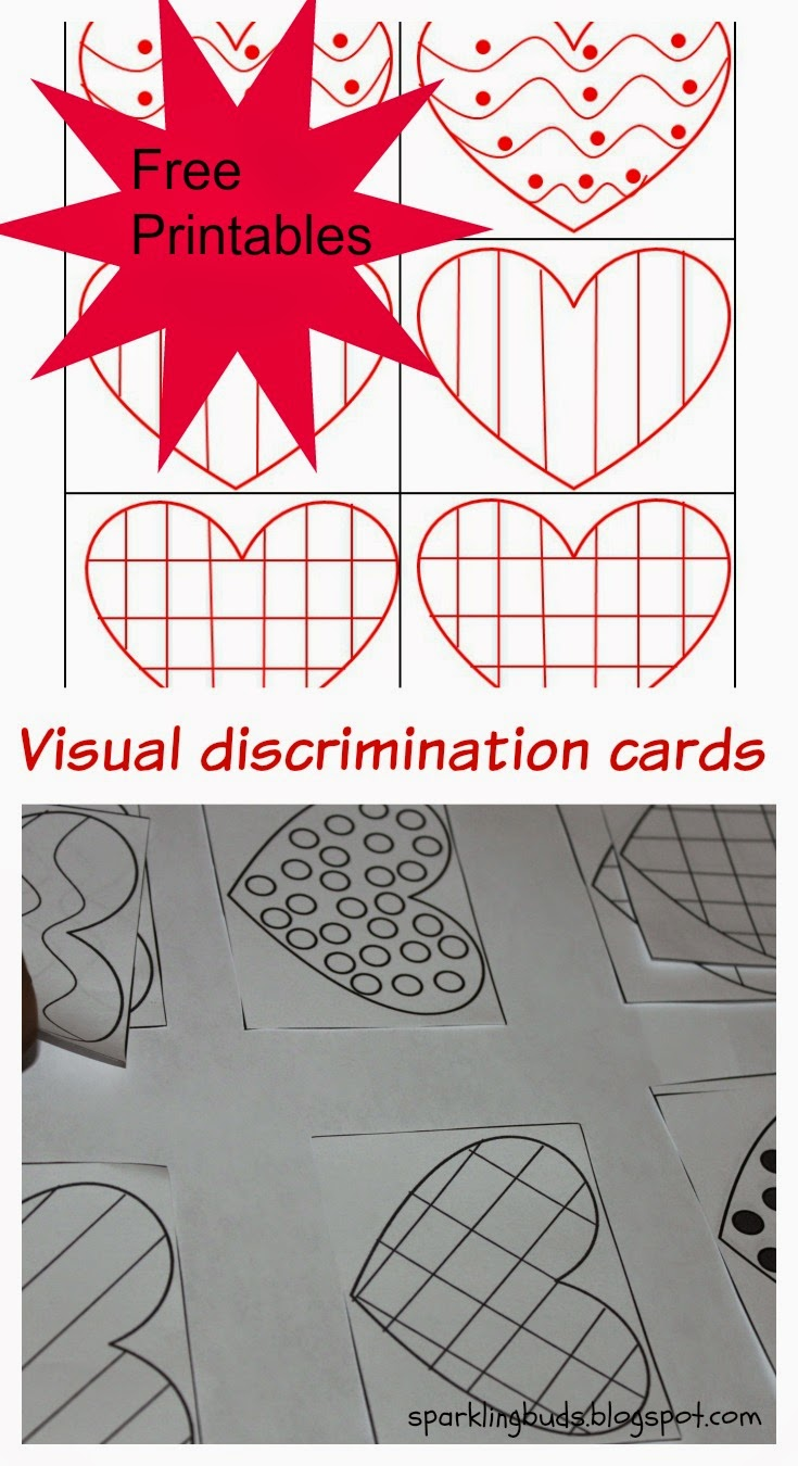 Workbooks visual discrimination worksheets : Visual discrimination cards for matching/memory game - sparklingbuds