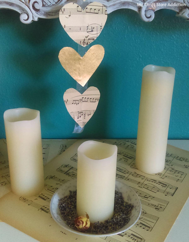 Floating hearts romantic Valentine mantel