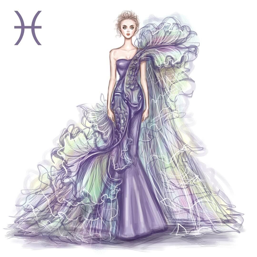 12-Pisces-Shamekh-Bluwi-Zodiac-Haute-Couture-Exquisite-Fashion-Drawings-www-designstack-co