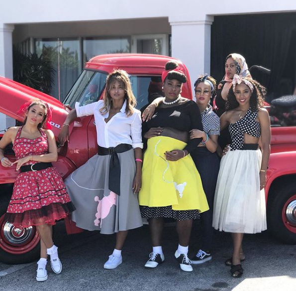 Photos: Celebrities storm Serena Williams' 50s themed baby shower