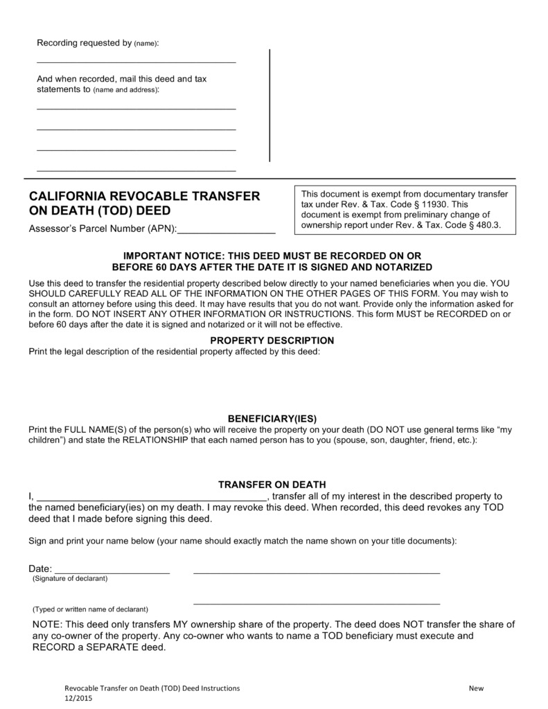 Sacramento real estate blog by erin stumpf california transfer on thanks to california assembly bill 139 that passed in 2015 as of january 1 2016 a real property owner has a new way to avoid the probate process solutioingenieria Choice Image