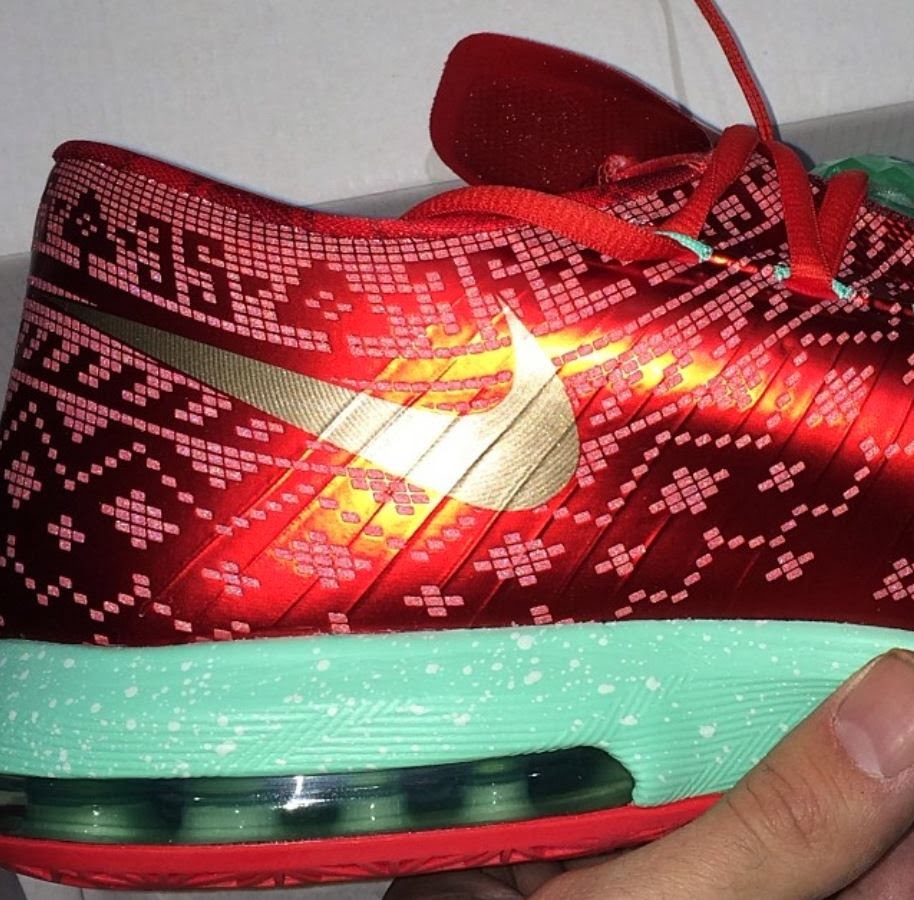 check out 202b6 99b0c Here is new detailed images of the Nike KD 6 VI Christmas Sneaker releasing  on December 26th for 130 bucks, Peep more images after the jump.