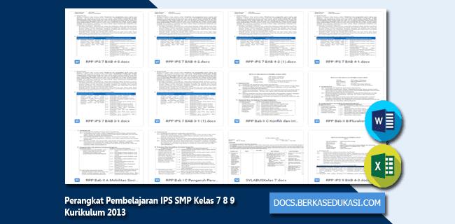 Perangkat Pembelajaran IPS SMP Kelas 7 8 9 Kurikulum 2013