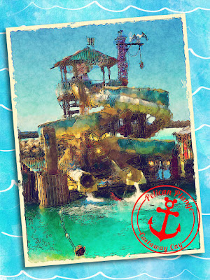 """""""Pelican Plunge - Castaway Cay"""" Disney Cruise inspired Project Life style 3x4 Card"""