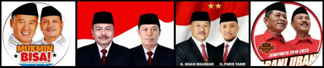 Empat pasang calon Bupati dan wakil Bupati Kabupaten Jeneponto 2018