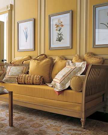 glamorous mustard yellow color living room | Window Treatments by Melissa: Please pass the mustard.