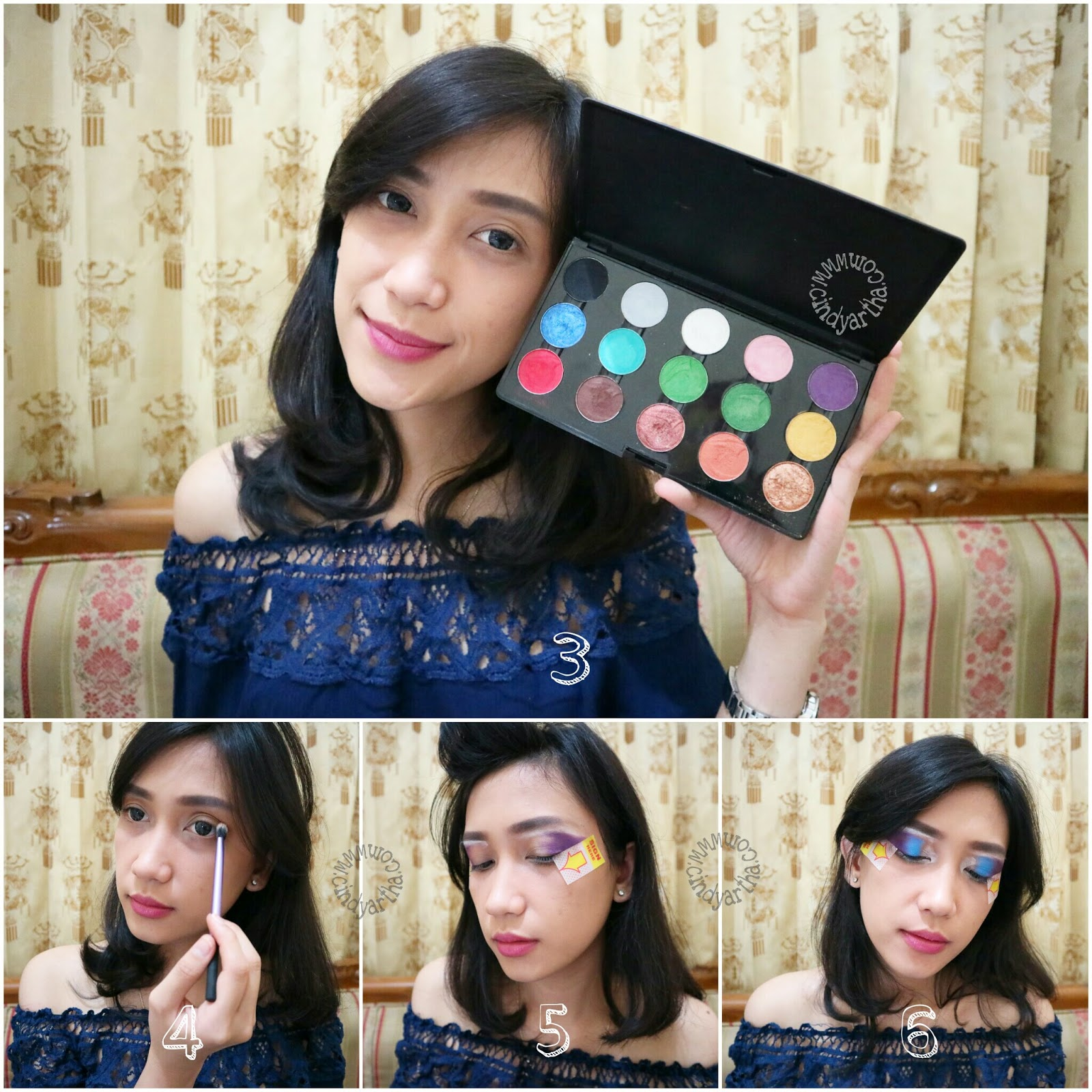 3 Menggunakan Inez Cosmetics Professional Color Eyeshadow Pallete