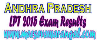 Andhra Pradesh LPT 2016 Exam Results