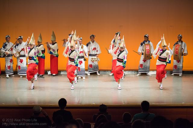 ヴィータホールで撮影した江戸っ子連の阿波踊り