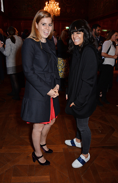 Claudia Winkleman Evening Standard Red Shoes