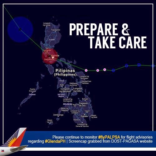 PAL, Cebu Pacific cancel flights due to Typhoon Glenda (July 16, 2014)