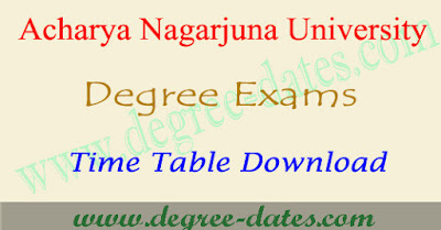 ANU degree exam time table 2018 Acharya Nagarjuna University ug results