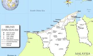 Peta Brunei Darussalam