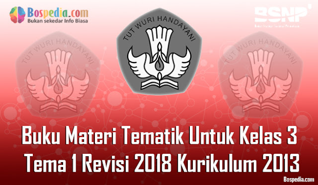 Lengkap -  Buku Materi Tematik Untuk Kelas 3 Tema 1 Revisi 2018 Kurikulum 2013