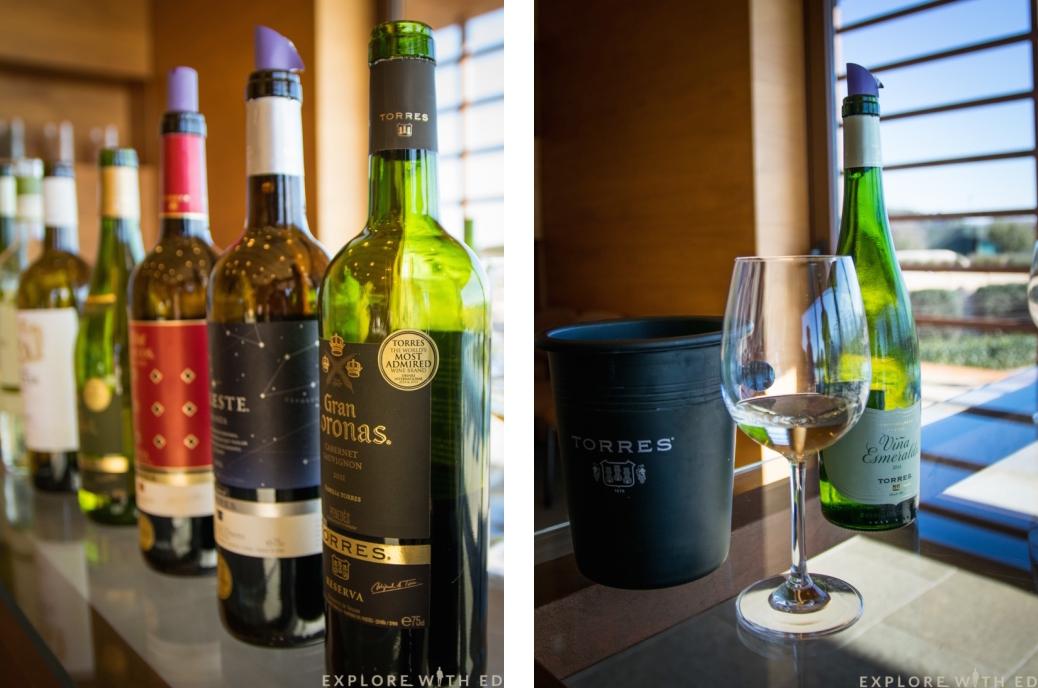 Torres wine bottles, Pacs del Penedès