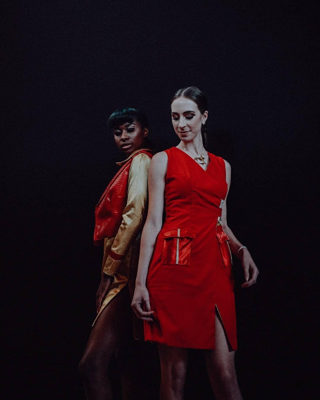 runway model Morgan Pashen wearing Natasha Shangari Kansas City Fashion Week