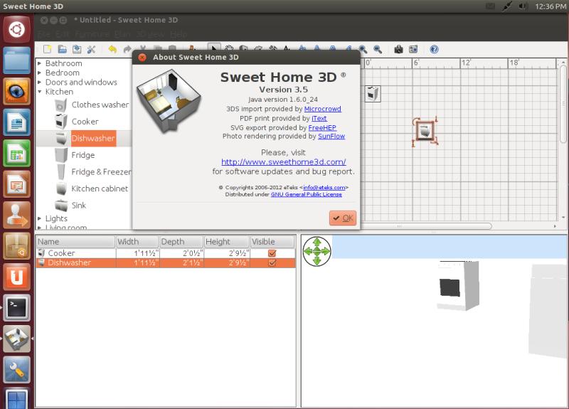 sweet home 3d updated to version 3 5 installation under. Black Bedroom Furniture Sets. Home Design Ideas