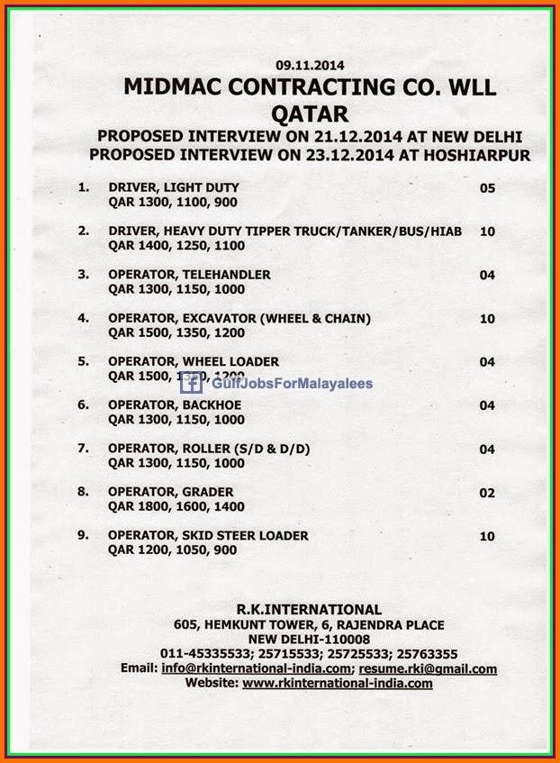 Midmac Contracting Co Wll Qatar Job Vacancies Gulf Jobs